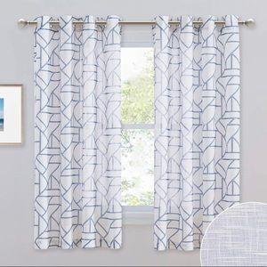 NEW White Semi-Sheer Curtains Panels (2)